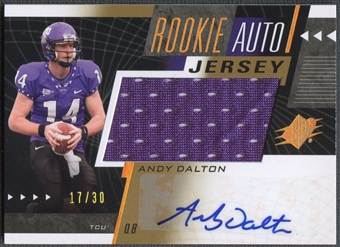 2011 SPx #60 Andy Dalton Gold Rookie Jersey Auto #17/30