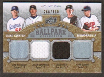 2009 Upper Deck Ballpark Collection #202 Justin Verlander Kevin Slowey Chad Billingsley Jesse Litsch /400