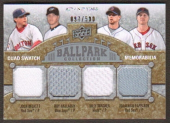 2009 Upper Deck Ballpark Collection #206 Billy Wagner Roy Halladay Josh Beckett Jonathan Papelbon /500
