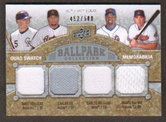2009 Upper Deck Ballpark Collection #210 Carlos Lee Travis Hafner Carlos Delgado Matt Holliday /500