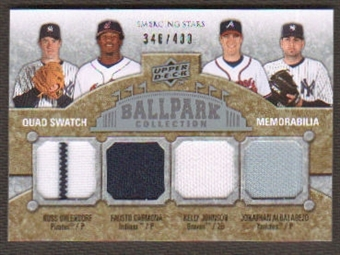 2009 Upper Deck Ballpark Collection #224 Fausto Carmona Jonathan Albaladejo Kelly Johnson Ross Ohlendorf /400
