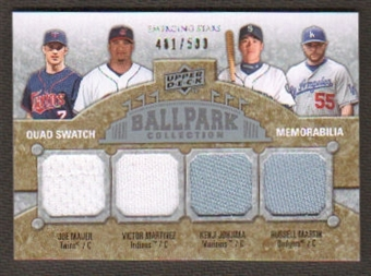 2009 Upper Deck Ballpark Collection #227 Joe Mauer Russell Martin Victor Martinez Kenji Johjima /500