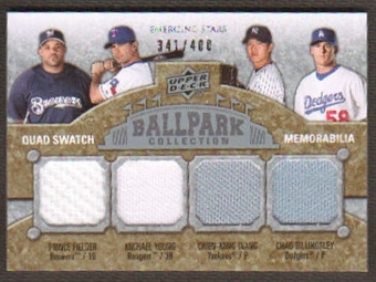 2009 Upper Deck Ballpark Collection #230 Chien-Ming Wang Michael Young Chad Billingsley Prince Fielder /400