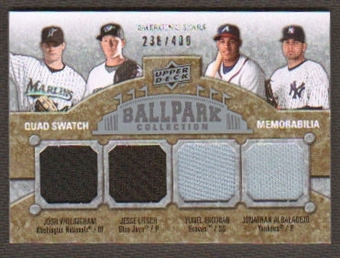 2009 Upper Deck Ballpark Collection #232 Jesse Litsch Yunel Escobar Jonathan Albaladejo Josh Willingham /400