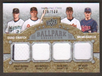 2009 Upper Deck Ballpark Collection #237 Jeremy Hermida Joe Mauer Adam Jones Nick Markakis /500