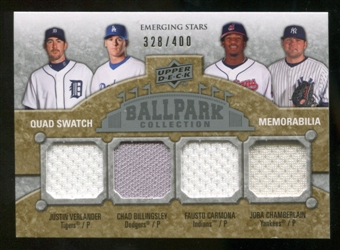 2009 Upper Deck Ballpark Collection #240 Joba Chamberlain Fausto Carmona Chad Billingsley Justin Verlander /40
