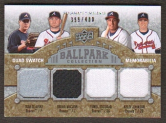 2009 Upper Deck Ballpark Collection #242 Yunel Escobar Kelly Johnson Tom Glavine Brian McCann /400