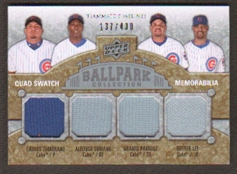 2009 Upper Deck Ballpark Collection #249 Carlos Zambrano Alfonso Soriano Aramis Ramirez Derrek Lee /400
