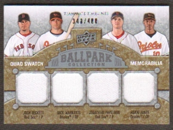 2009 Upper Deck Ballpark Collection #258 Jonathan Papelbon Nick Markakis Adam Jones Josh Beckett /400