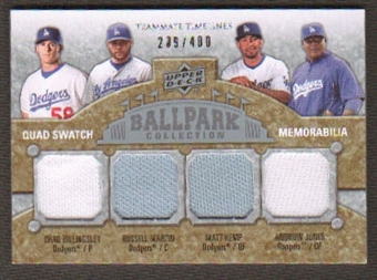 2009 Upper Deck Ballpark Collection #259 Andruw Jones Matt Kemp Chad Billingsley Russell Martin /400