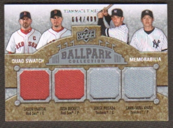 2009 Upper Deck Ballpark Collection #261 Josh Beckett Jason Varitek Jorge Posada Chien-Ming Wang /400