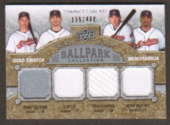 2009 Upper Deck Ballpark Collection #263 Grady Sizemore Victor Martinez Cliff Lee Travis Hafner /400