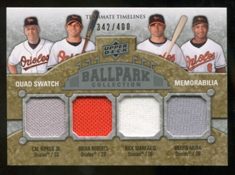 2009 Upper Deck Ballpark Collection #267 Cal Ripken Jr. Melvin Mora Brian Roberts Nick Markakis /400