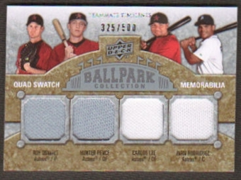 2009 Upper Deck Ballpark Collection #269 Carlos Lee Hunter Pence Roy Oswalt Ivan Rodriguez /500