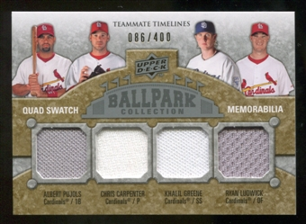 2009 Upper Deck Ballpark Collection #274 Chris Carpenter Khalil Greene Albert Pujols Ryan Ludwick /400