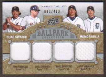 2009 Upper Deck Ballpark Collection #276 Ivan Rodriguez Carlos Guillen Magglio Ordonez Justin Verlander /400