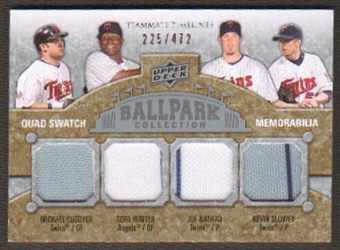 2009 Upper Deck Ballpark Collection #280 Michael Cuddyer Joe Nathan Kevin Slowey Torii Hunter /472