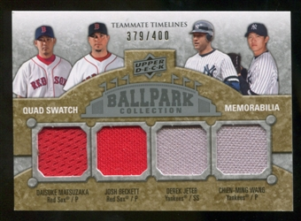 2009 Upper Deck Ballpark Collection #282 Derek Jeter Daisuke Matsuzaka Chien-Ming Wang Josh Beckett /400