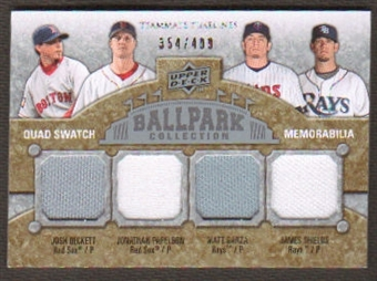 2009 Upper Deck Ballpark Collection #283 Josh Beckett Jonathan Papelbon Matt Garza James Shields /400