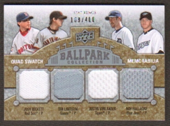 2009 Upper Deck Ballpark Collection #291 Tim Lincecum Josh Beckett Roy Halladay Justin Verlander /400