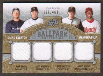 2009 Upper Deck Ballpark Collection #295 Chris B. Young Ryan Braun Nate McLouth Matt Holliday /400