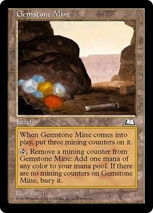 Magic the Gathering Weatherlight Single Gemstone Mine - MODERATE PLAY (MP)