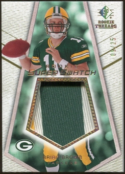 2008 Upper Deck SP Rookie Threads Rookie Super Swatch Gold Patch #RSSBB Brian Brohm /25