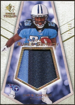 2008 Upper Deck SP Rookie Threads Rookie Super Swatch Gold Patch #RSSCJ Chris Johnson /25