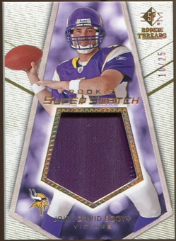 2008 Upper Deck SP Rookie Threads Rookie Super Swatch Gold Patch #RSSJB John David Booty /25