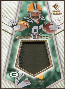 2008 Upper Deck SP Rookie Threads Rookie Super Swatch Gold Patch #RSSJN Jordy Nelson /25