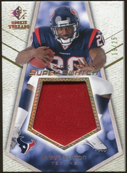 2008 Upper Deck SP Rookie Threads Rookie Super Swatch Gold Patch #RSSSS Steve Slaton /25