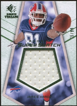 2008 Upper Deck SP Rookie Threads Rookie Super Swatch Green 99 #RSSJH James Hardy /99
