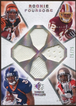 2008 Upper Deck SP Rookie Threads Rookie Threads Foursome #JCRK Caldwell Royal Kelly Jackson /75