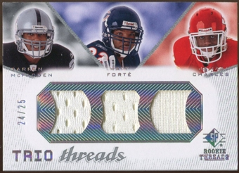 2008 Upper Deck SP Rookie Threads Trio Threads 25 #TTMFC Darren McFadden Matt Forte Jamaal Charles 24/25