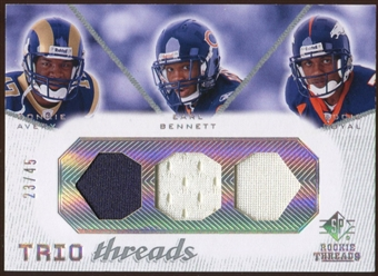 2008 Upper Deck SP Rookie Threads Trio Threads 45 #TTABR Donnie Avery/Earl Bennett/Eddie Royal 23/45