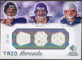 2008 Upper Deck SP Rookie Threads Trio Threads 60 #TTFBO Joe Flacco/John David Booty/Kevin O'Connell /60