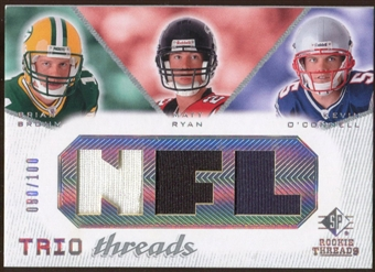 2008 Upper Deck SP Rookie Threads Trio Threads #BRO Brian Brohm Matt Ryan Kevin O'Connell 80/100