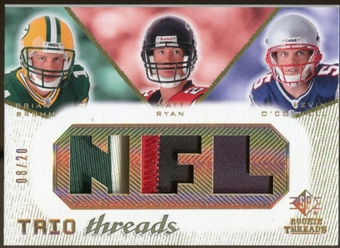 2008 Upper Deck SP Rookie Threads Trio Threads Patch #TTBRO Brian Brohm Matt Ryan Kevin O'Connell 8/20