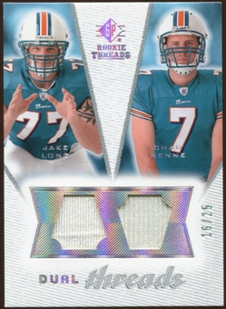 2008 Upper Deck SP Rookie Threads Dual Threads #DTCM Jake Long Chad Henne /25