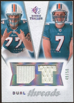 2008 Upper Deck SP Rookie Threads Dual Threads #DTCM Jake Long Chad Henne /50