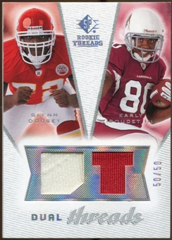 2008 Upper Deck SP Rookie Threads Dual Threads #DTDD Glenn Dorsey Early Doucet /50