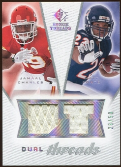 2008 Upper Deck SP Rookie Threads Dual Threads #DTFC Jamaal Charles Matt Forte /50