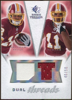 2008 Upper Deck SP Rookie Threads Dual Threads/50 #DTKT Malcolm Kelly Devin Thomas /50