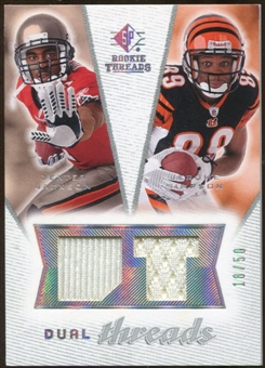 2008 Upper Deck SP Rookie Threads Dual Threads #DTSJ Dexter Jackson Jerome Simpson /50