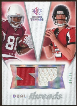 2008 Upper Deck SP Rookie Threads Dual Threads #DTDR Early Doucet Matt Ryan /75