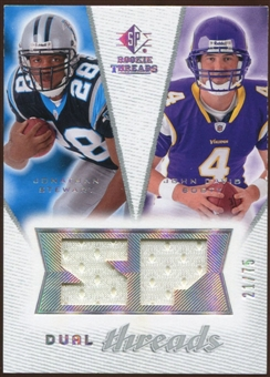 2008 Upper Deck SP Rookie Threads Dual Threads #DTJJ Jonathan Stewart John David Booty /75