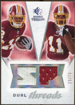 2008 Upper Deck SP Rookie Threads Dual Threads #DTKT Malcolm Kelly Devin Thomas /75