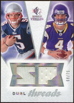 2008 Upper Deck SP Rookie Threads Dual Threads 75 #DTOB Kevin O'Connell/John David Booty /75