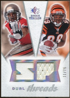 2008 Upper Deck SP Rookie Threads Dual Threads/75 #DTSJ Dexter Jackson Jerome Simpson /75