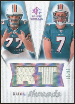 2008 Upper Deck SP Rookie Threads Dual Threads/99 #DTCM Jake Long Chad Henne /99